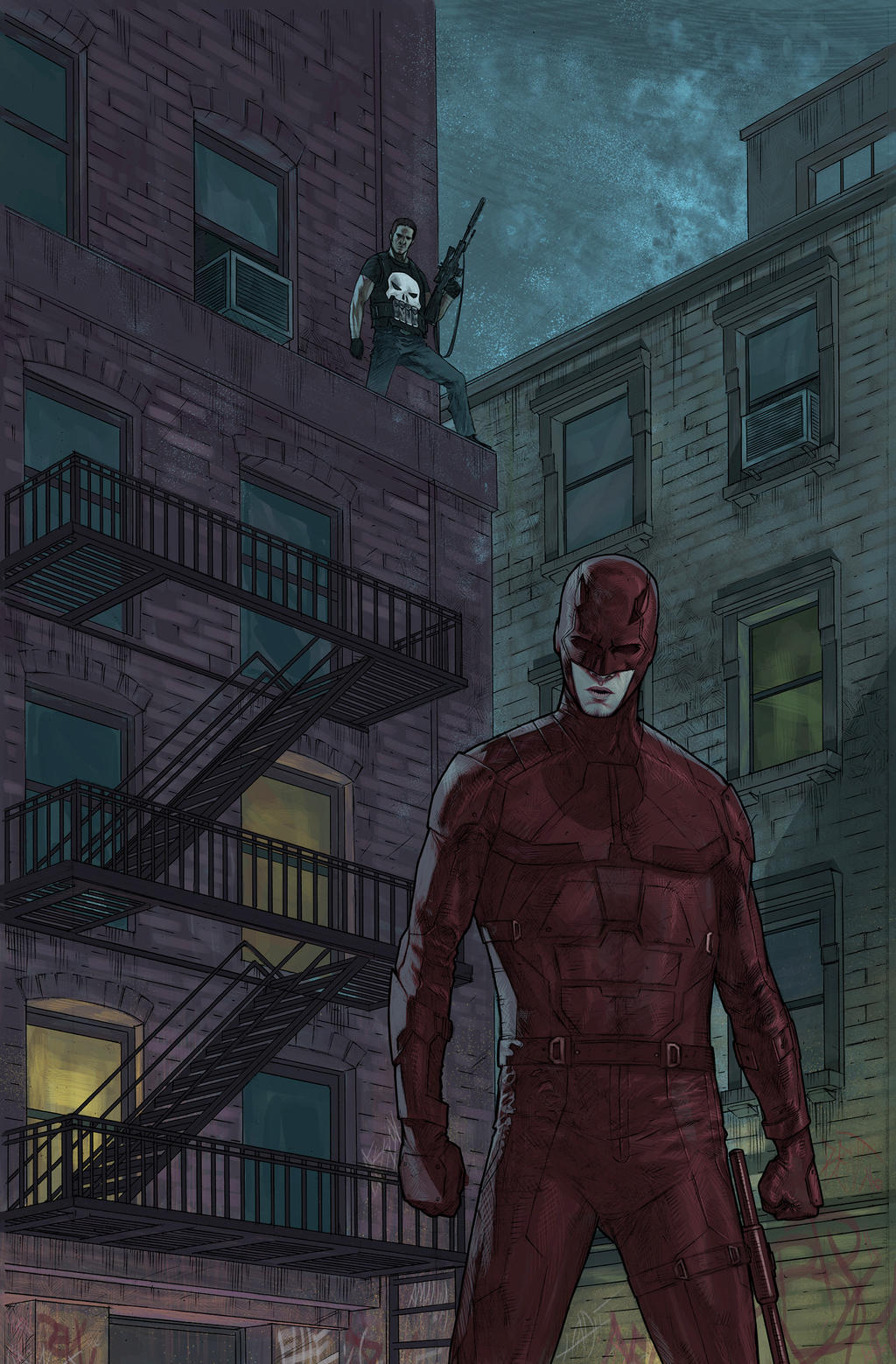 Daredevil and the Punisher in Hell's Kitchen by ...