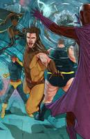Classic X Men VS the Brotherhood of Evil Mutants by benttibisson