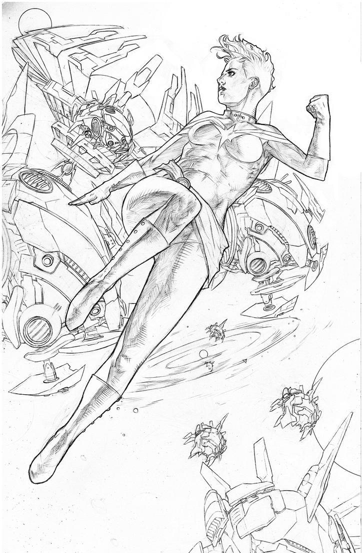 Carol Danvers Captain Marvel pencils by benttibisson