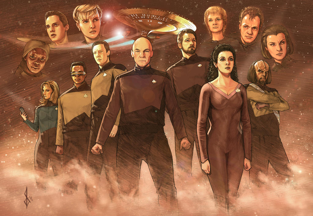 Star Trek the Next Generation painting