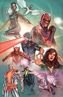 X Men Poster Painted by benttibisson