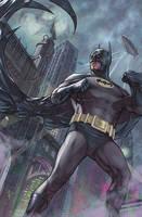batman in gotham painted by benttibisson