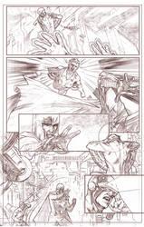 Uncanny Xmen 112 redraw page 6 pencils by benttibisson