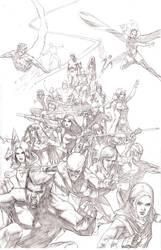 X Men Team Pencils by benttibisson