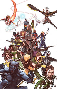 X Men Team with Colors