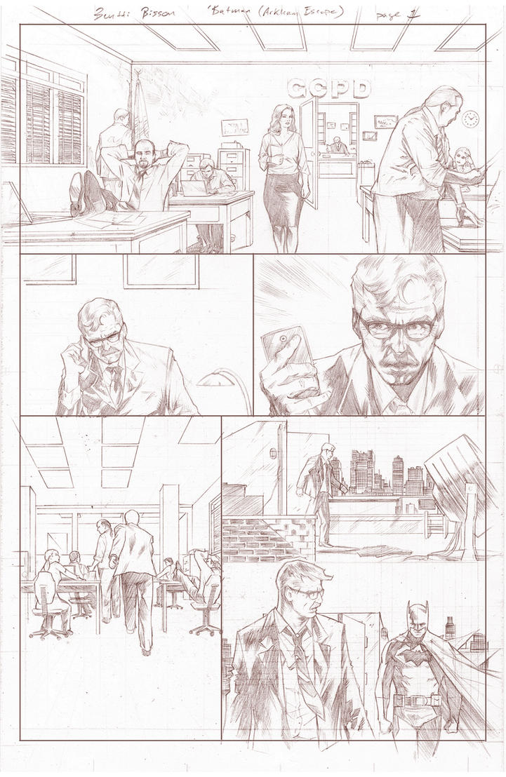 Batman Arkham Breakout Pencils page 1 by benttibisson
