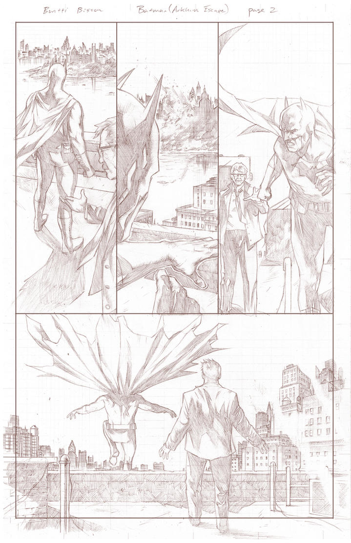 Batman Arkham Breakout Pencils page 2 by benttibisson