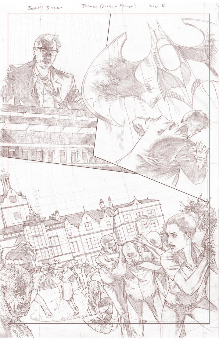 Batman Arkham Breakout Pencils page 3 by benttibisson