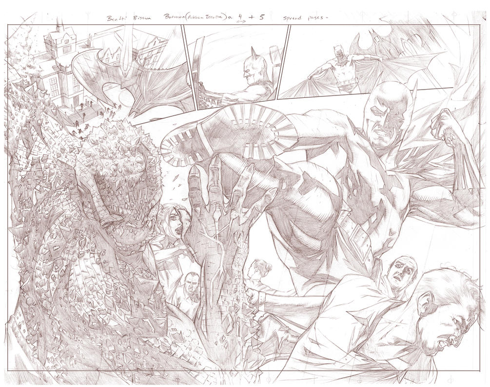 Batman Arkham Breakout Pencils pages 4 and 5 by benttibisson
