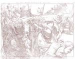 Batman Arkham Breakout Pencils pages 4 and 5