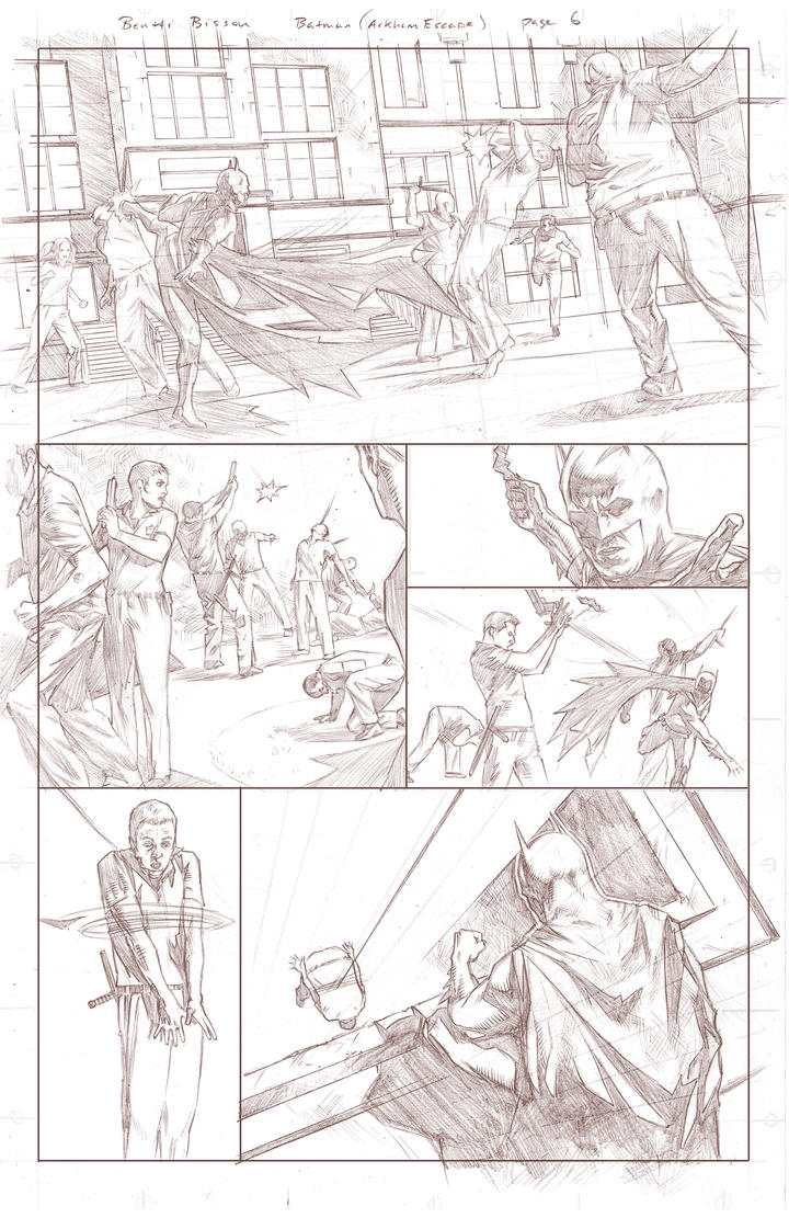 Batman Arkham Breakout Pencils page 6 by benttibisson