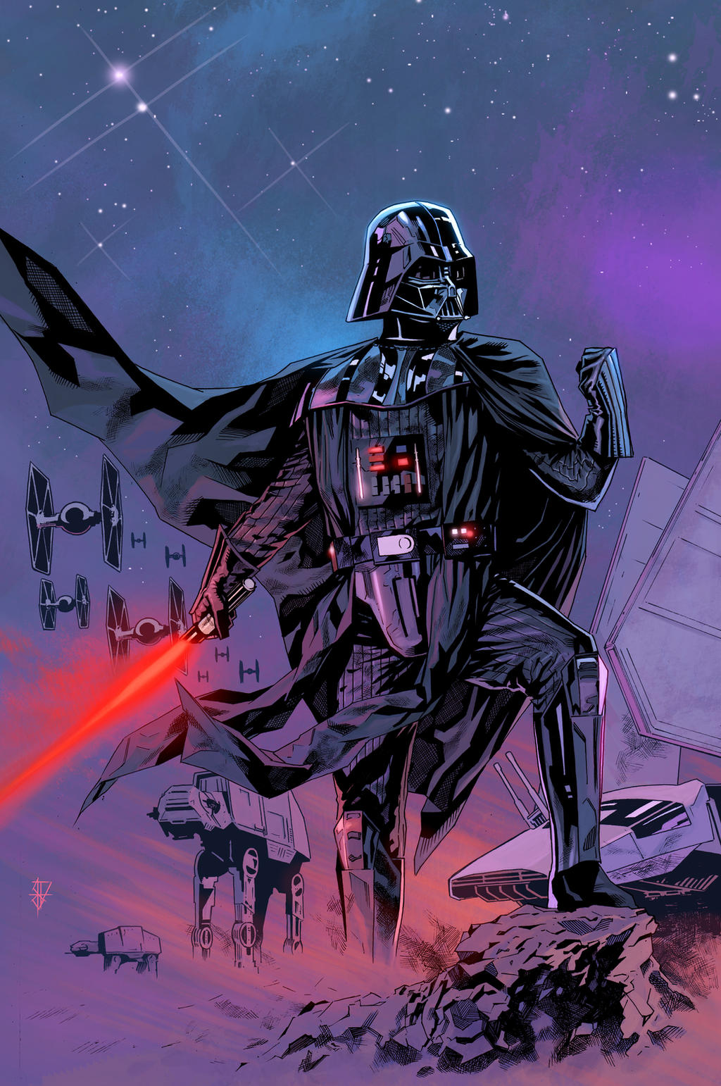 Star Wars Darth Vader trying to look tough