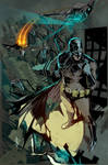 Batman summoning the Batwing.