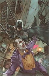 batman and the joker roughhousing by benttibisson