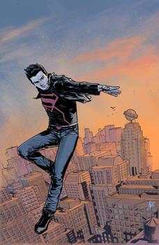 superboy over metropolis