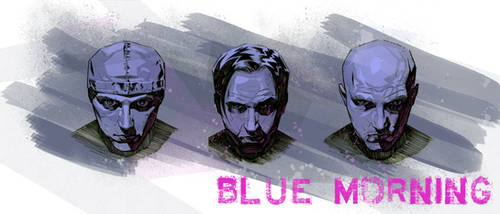 Blue Morning band banner art number 1