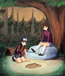 Dipper and Mabel by gogopri