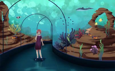 Sayori at the Aquarium by gogopri