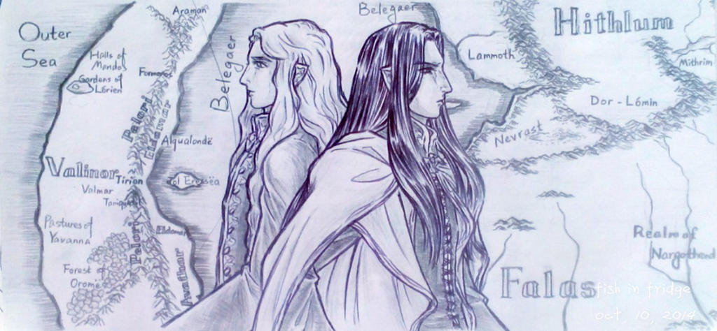 Fingolfin and Finarfin by fish-in-fridge