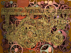Steampunk vapor car