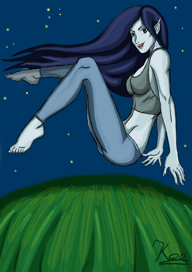 Marcie on the roof top by krissar