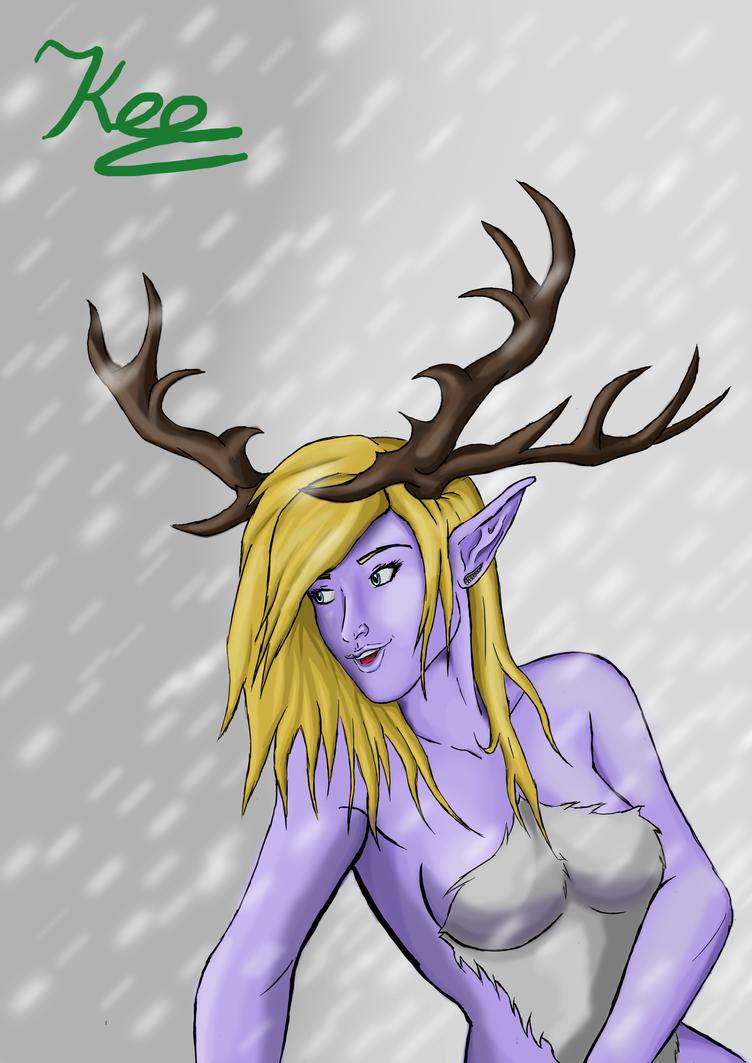 Deer Princess by krissar