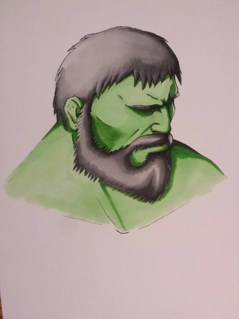 Mountain Hulk final sketch  by krissar