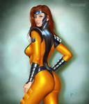 Jean Grey in Gold Team Suit