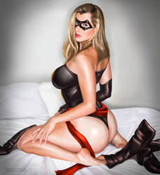 Ms. Marvel on bed by arion69