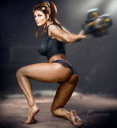 Brigitte from Overwatch by arion69