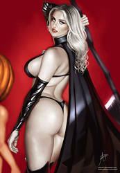 Lady Death (with Pumpkin man) by arion69