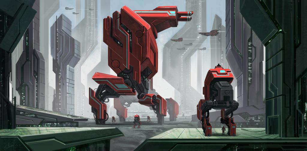The Big Red Machine by Erlson