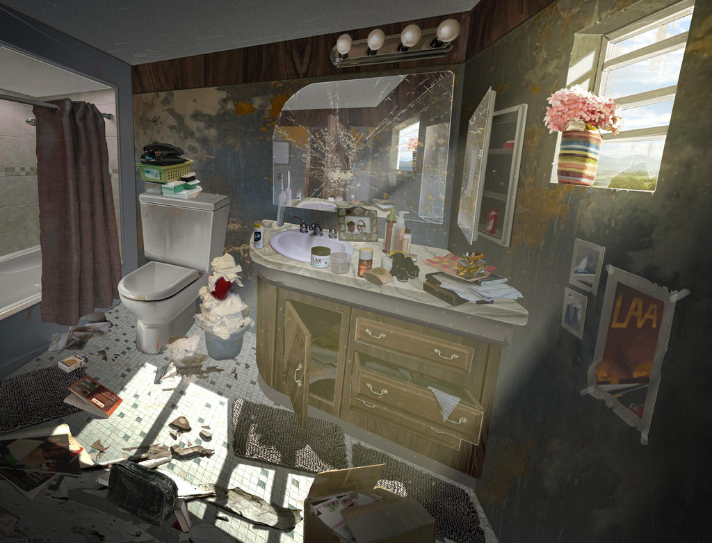 Dirty Bathroom by Erlson