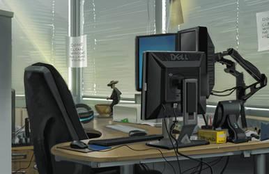 Boss's Desk by Erlson