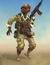 African Soldier by Erlson