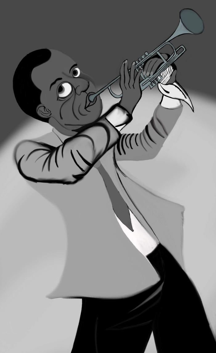 Louis Armstrong (WIP) by AnansiOneiros