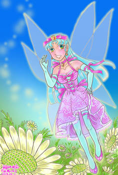 Flower and fairy