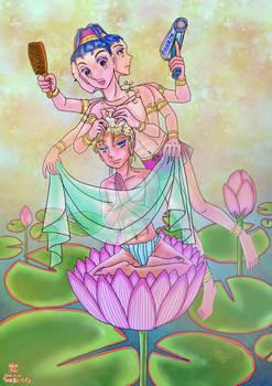 Ashura and budda