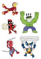 Marvel stickers by DCP16