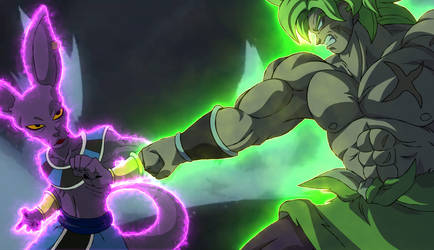 Broly SSJ Full Power vs Bills 100% de Poder