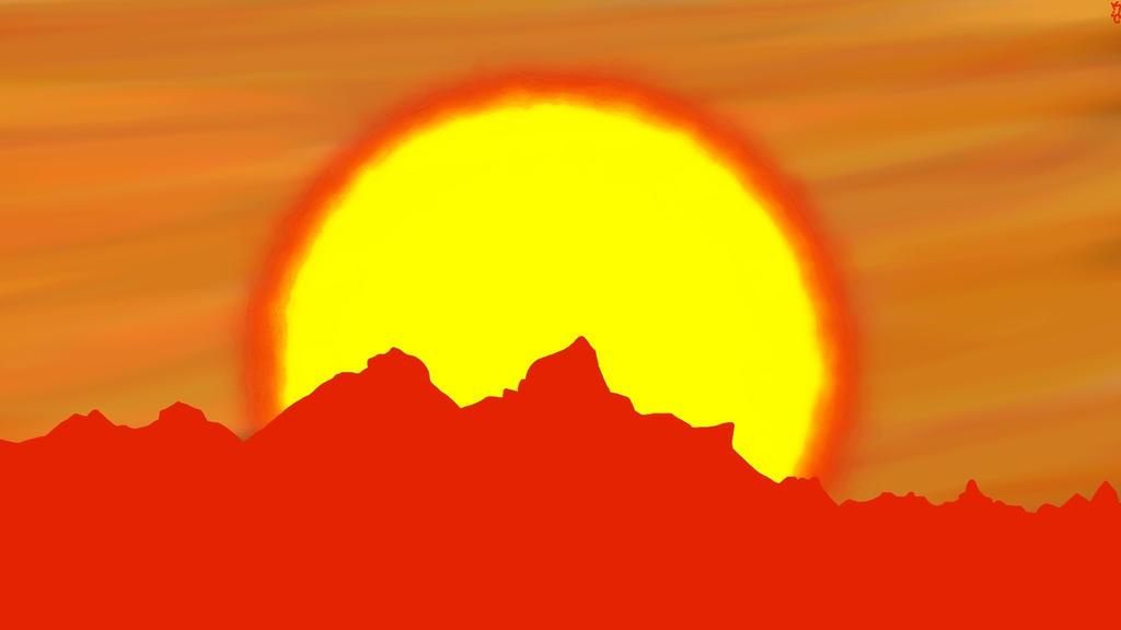Blazing sun by KnighHunter