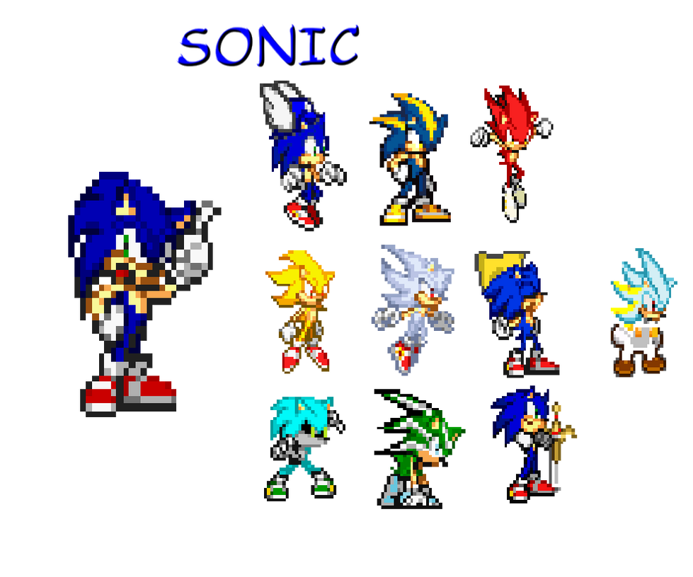 Sonic Forms: Sonic's Forms By TerenceBird1 On DeviantArt