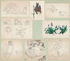Simon's Forest - June Sketch Dump by Gabrielsknife
