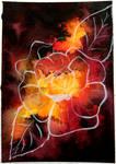 Watercolor - Burning Rose