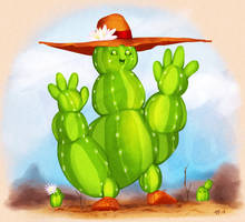 Cactus Mage by Gabrielsknife