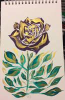 Traditional - Split Gold Rose by Gabrielsknife