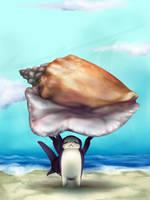 Bunshark - Buddy found a Shell by Gabrielsknife