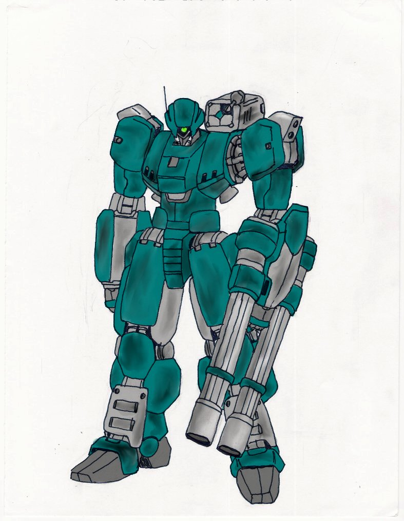 Military Mech Colored by Xenomech
