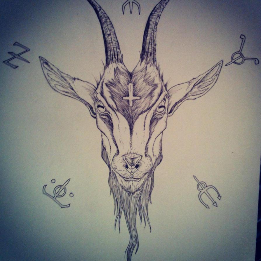 Pagan Goat Head By Dazamir13 On Deviantart