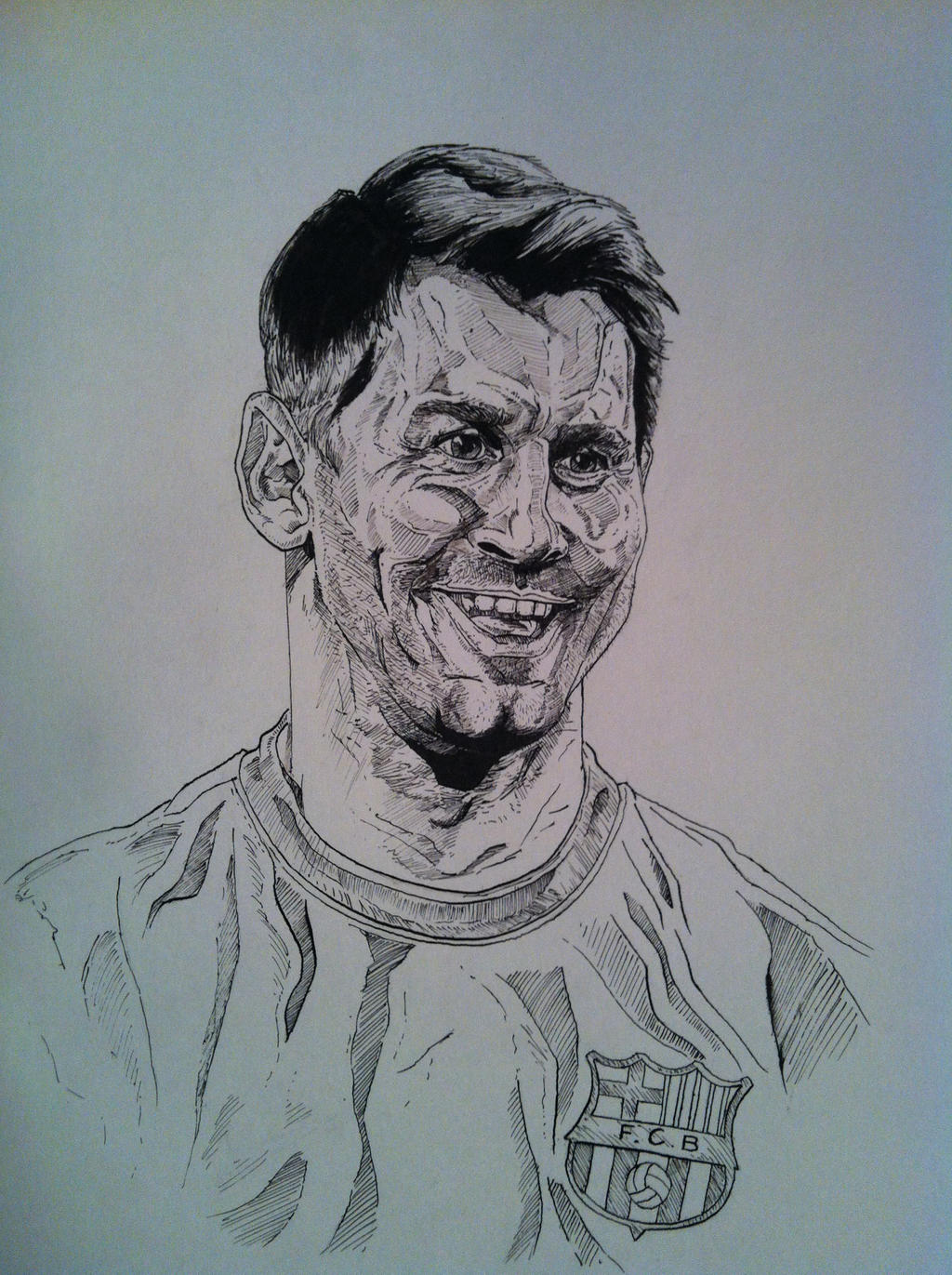 How to draw messi sketch